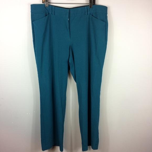 c3cdb28e0d1 Lane Bryant Pants - Lane Bryant Teal Straight Leg Pants Plus Size 22